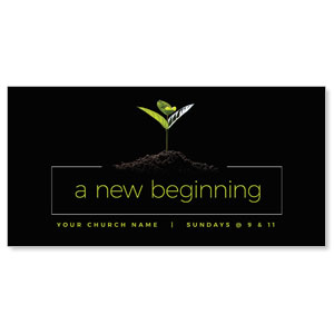 "New Beginning Plant 11"" x 5.5"" Oversized Postcards"