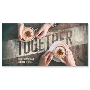 "Together Coffee 11"" x 5.5"" Oversized Postcards"