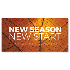 "Season Start Orange Leaf 11"" x 5.5"" Oversized Postcards"