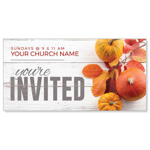 "Fall Pumpkins and Branch 11"" x 5.5"" Oversized Postcards"