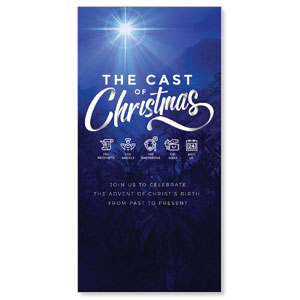 "The Cast of Christmas 11"" x 5.5"" Oversized Postcards"