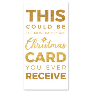 "Christmas Gold Could Be 11"" x 5.5"" Oversized Postcards"