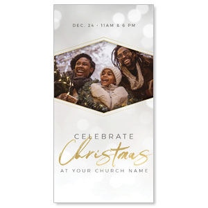 "Family Celebrate Christmas 11"" x 5.5"" Oversized Postcards"