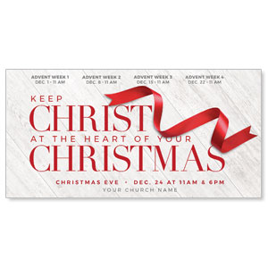 "Red Ribbon 11"" x 5.5"" Oversized Postcards"