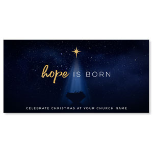 "Christmas Star Hope is Born 11"" x 5.5"" Oversized Postcards"