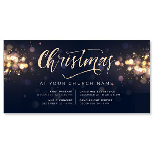 "Christmas Sparkle Events 11"" x 5.5"" Oversized Postcards"