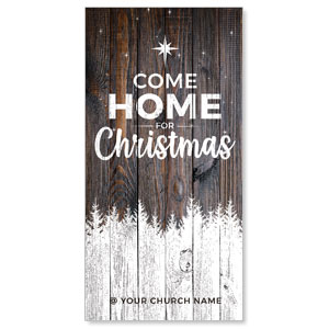 "Dark Wood Christmas Come Home 11"" x 5.5"" Oversized Postcards"