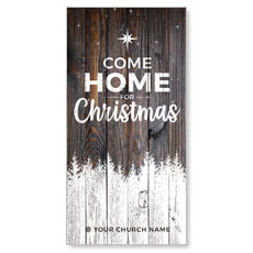 Dark Wood Christmas Come Home