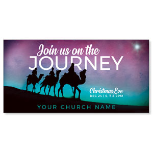 "Wise Men Christmas Journey 11"" x 5.5"" Oversized Postcards"
