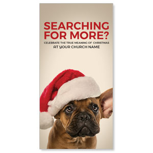 "Santa Hat Puppy 11"" x 5.5"" Oversized Postcards"