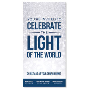 "Sparkle Celebrate Light 11"" x 5.5"" Oversized Postcards"