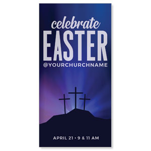 "Aurora Lights Celebrate Easter 11"" x 5.5"" Oversized Postcards"