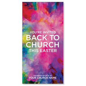 "Back to Church Easter 11"" x 5.5"" Oversized Postcards"