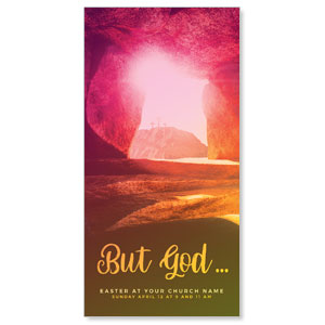 "But God 11"" x 5.5"" Oversized Postcards"