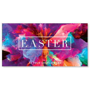 "Easter Color Smoke 11"" x 5.5"" Oversized Postcards"