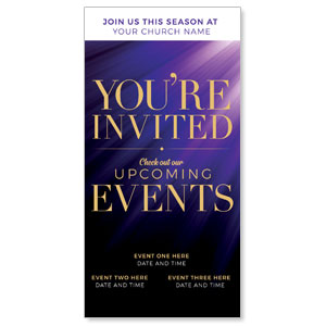 "Purple Custom Invite 11"" x 5.5"" Oversized Postcards"