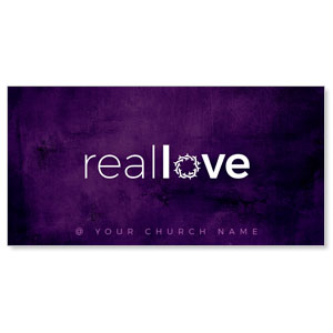 "Real Love Crown 11"" x 5.5"" Oversized Postcards"