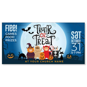 "Trunk or Treat Kids 11"" x 5.5"" Oversized Postcards"
