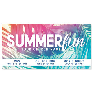 "Summer Fun Pastel 11"" x 5.5"" Oversized Postcards"