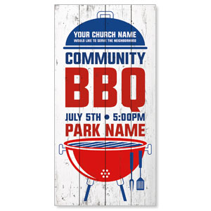 "Summer BBQ 11"" x 5.5"" Oversized Postcards"