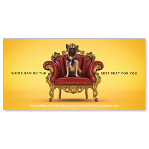 "Saving A Seat For You 11"" x 5.5"" Oversized Postcards"