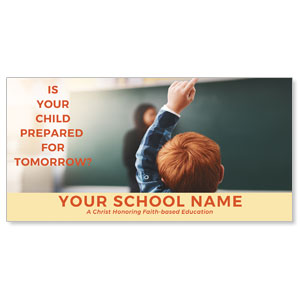 "Prepared For Tomorrow Enroll 11"" x 5.5"" Oversized Postcards"