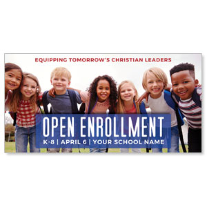 "Kids Enroll Together 11"" x 5.5"" Oversized Postcards"