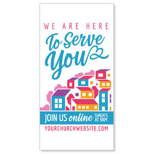 "Here To Serve You 11"" x 5.5"" Oversized Postcards"