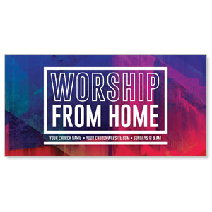 "Abstract Worship From Home 11"" x 5.5"" Oversized Postcards"