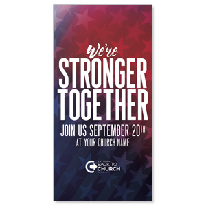"BTCS Stronger Together Stars 11"" x 5.5"" Oversized Postcards"