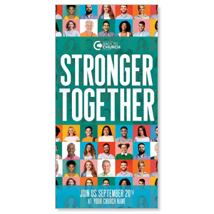 "BTCS Stronger Together People 11"" x 5.5"" Oversized Postcards"
