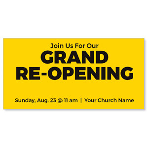 "Yellow Grand Re-Opening 11"" x 5.5"" Oversized Postcards"