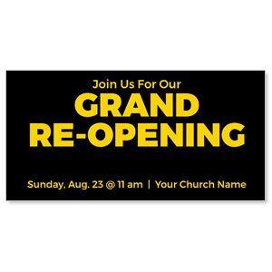 "Jet Black Grand Re-Opening 11"" x 5.5"" Oversized Postcards"