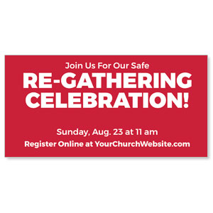 "Red Re-Gathering 11"" x 5.5"" Oversized Postcards"