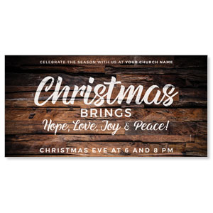 "Dimensional Wood Christmas 11"" x 5.5"" Oversized Postcards"