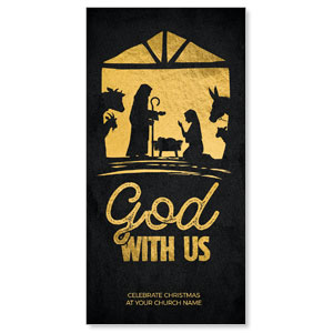 "God With Us Gold 11"" x 5.5"" Oversized Postcards"