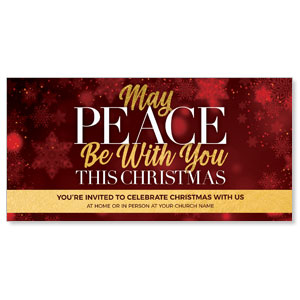 "Peace Be With You Red 11"" x 5.5"" Oversized Postcards"