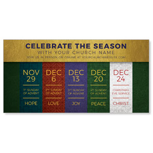 "Celebrate The Season Advent 11"" x 5.5"" Oversized Postcards"