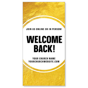 "Gold Dot Welcome Back 11"" x 5.5"" Oversized Postcards"