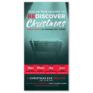 "ReDiscover Christmas Advent Manger 11"" x 5.5"" Oversized Postcards"