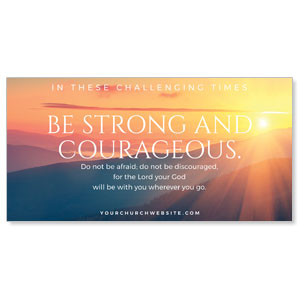 "Sunrise Glow Strong Courageous 11"" x 5.5"" Oversized Postcards"