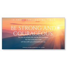 Sunrise Glow Strong Courageous