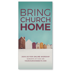 "Bring Church Home 11"" x 5.5"" Oversized Postcards"