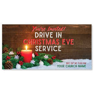 "Drive In Christmas Candle 11"" x 5.5"" Oversized Postcards"