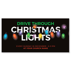 "Drive Through Christmas Lights 11"" x 5.5"" Oversized Postcards"