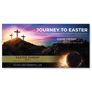 "Journey To Easter 11"" x 5.5"" Oversized Postcards"