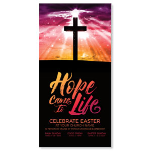 "Hope Life Cross 11"" x 5.5"" Oversized Postcards"
