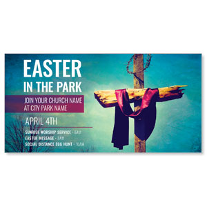 "Easter In Park Blue 11"" x 5.5"" Oversized Postcards"