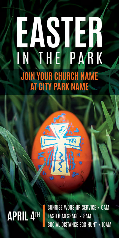 Church Postcards, Easter, Easter In Park Grass, 5.5 x 11