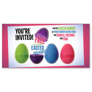 "Egg Hunt Plastic Eggs 11"" x 5.5"" Oversized Postcards"
